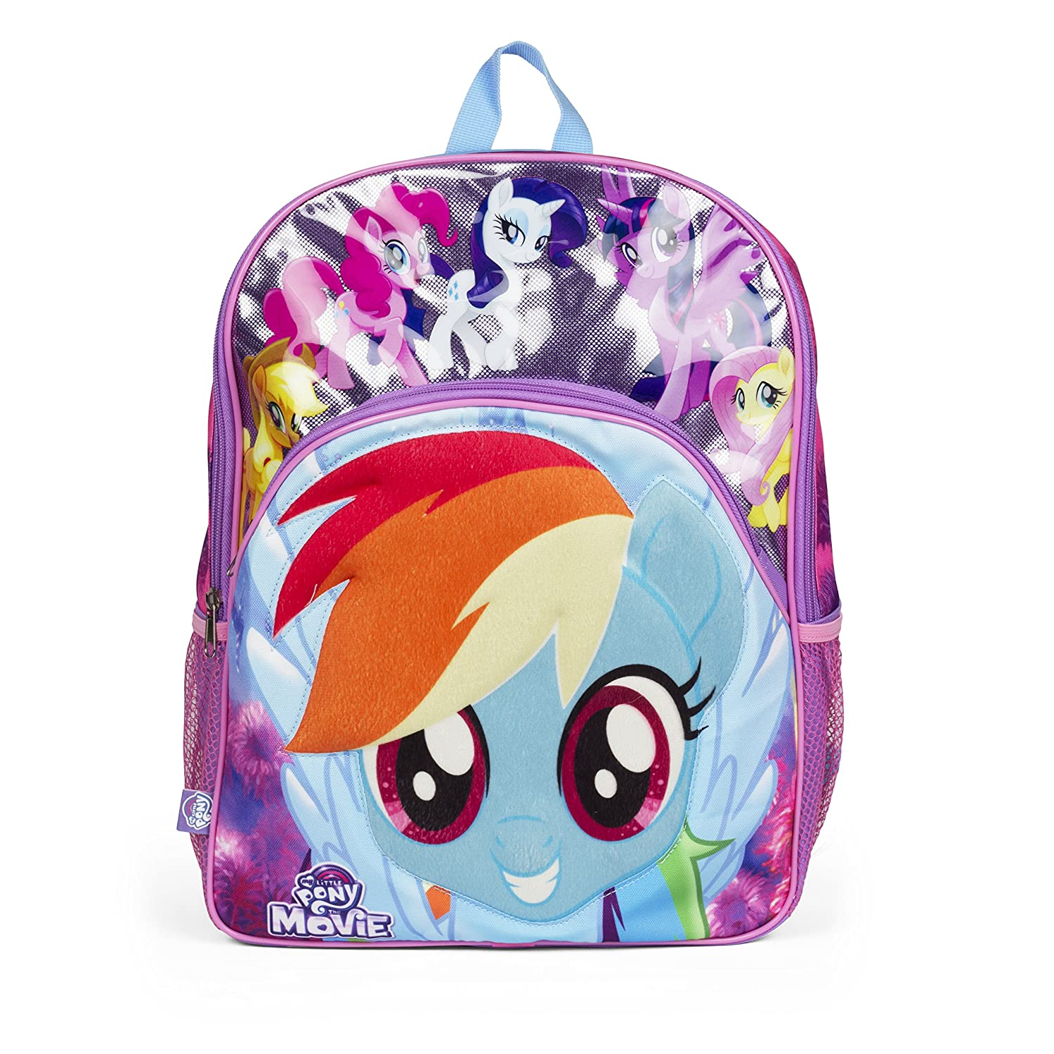 86cc5a10828b Amazon.com  Nickelodeon 35296 My Little Pony 3D Molded Front Pocket Purple Backpack  School Bag