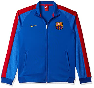 d023bfe8065 Amazon.com  NIKE FC Barcelona Sportswear Authentic N98 Men s Track Jacket   Clothing