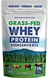 Grass Fed Whey Protein Powder Concentrate - Premium Unflavored Protein Perfect For Any Smoothie, Shake, Drink or Food. Gluten Free, Non GMO, And Cold Processed From Milk Of Wisconsin Cows - 1 pound