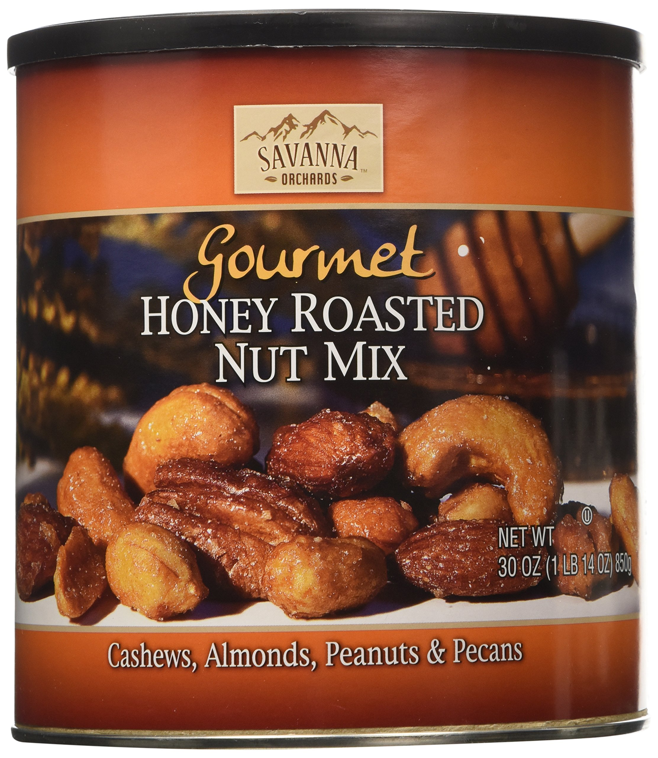 Savanna Orchards Gourmet Honey Roasted Nut Mix 30 oz. Can