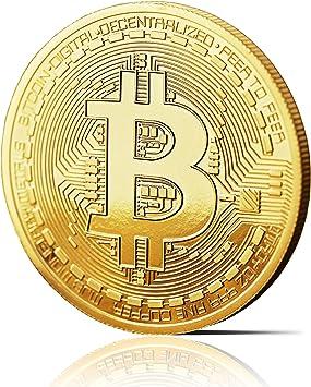innoGadgets Moneda física de Bitcoin revestida en Oro auténtico de ...