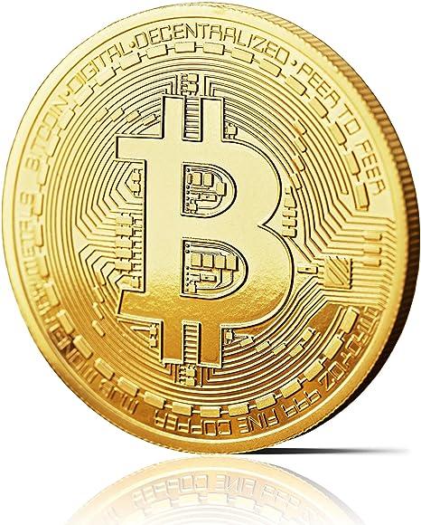 Moneda física de Bitcoin revestida en oro auténtico de 24 quilates. Una verdadera pieza de coleccionista, con estuche protector. Una adquisición ...