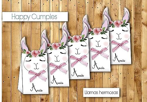 Cajas llamas cumpleaños con chuches / 12 unidades -: Amazon ...