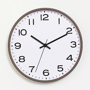 Salón moderno minimalista reloj de pared digital dormitorio mesa redonda en la casa de reloj nórdicos