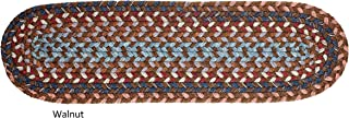 """product image for Rhody Rug Augusta Space-Dye Wool Braided Rug Walnut 8"""" x 28"""" Oval 2' x 3' Natural Oval"""