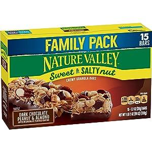 Nature Valley Sweet & Salty Nut Dark Chocolate Peanut & Almond Granola Bars 15ct