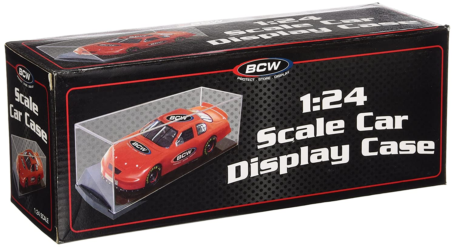 BCW 1:24 Scale Car Display Case - Die Cast NASCAR, Racing - Sports Memorabilia Display Case - Collecting Supplies
