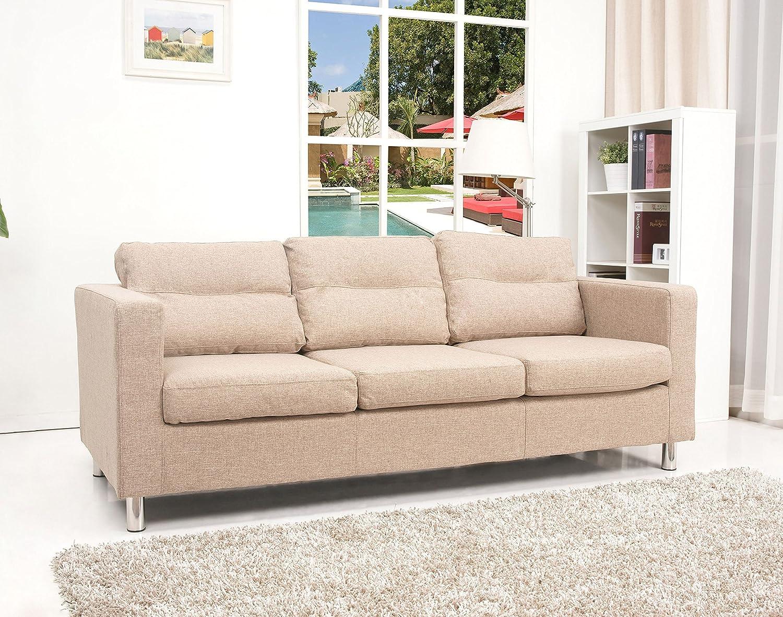 Gold Sparrow Detroit Sofa, Camel