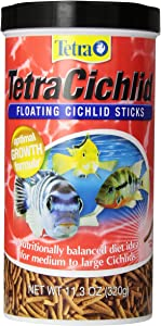 TetraCichlid Floating Cichlid Sticks for Medium / Large Cichlids