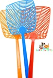 Fly Swatter Bulk 3 Pack by Garry's Pets - Long Plastic Handle ( 18 inch ) Hand Swatters for Flies - Easy for Kids to Use