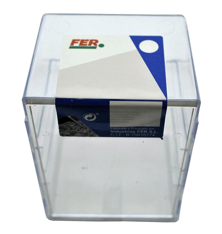 FER 43643 Caja Profesional Pl/ástico Tirafondo Rosca Madera Cabeza Hexagonal 6x80 Zincado