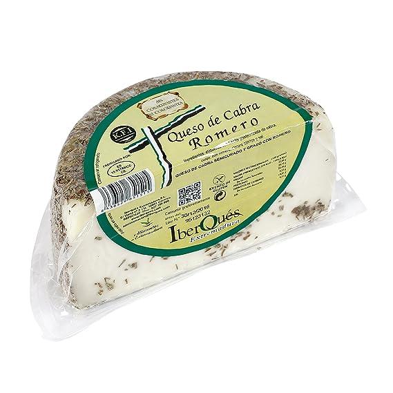 IBERQUÉS queso de cabra romero cuña 450 gr