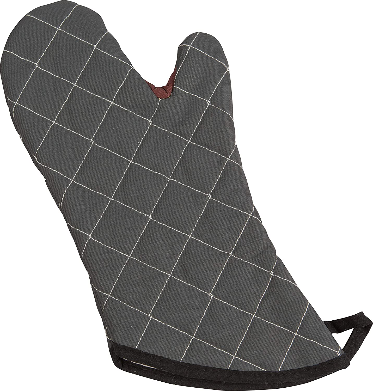 "San Jamar 800FG15-BK BestGuard Commercial Heat Protection Up to 450° F Oven Mitts (Pair), 15"" Length, Black"