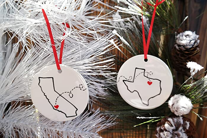 Amazon.com: State to State Christmas Ornament, Christmas Gift for ...