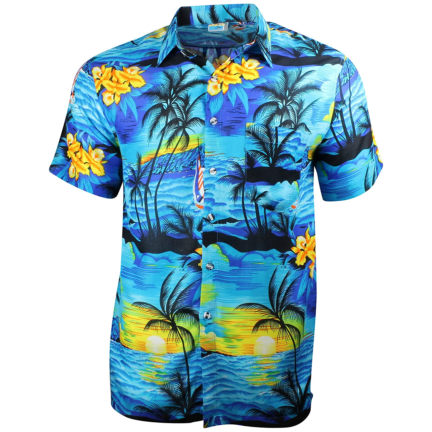 031047d1 Cherry-on-Top Hawaiian Shirt Summer Caribbean Party Stag Sail Boat:  Amazon.co.uk: Clothing