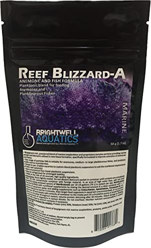 Brightwell Aquatics Reef Blizzard-A Powdered Planktonic Food Blend for Anemones Planktivorous Fishes