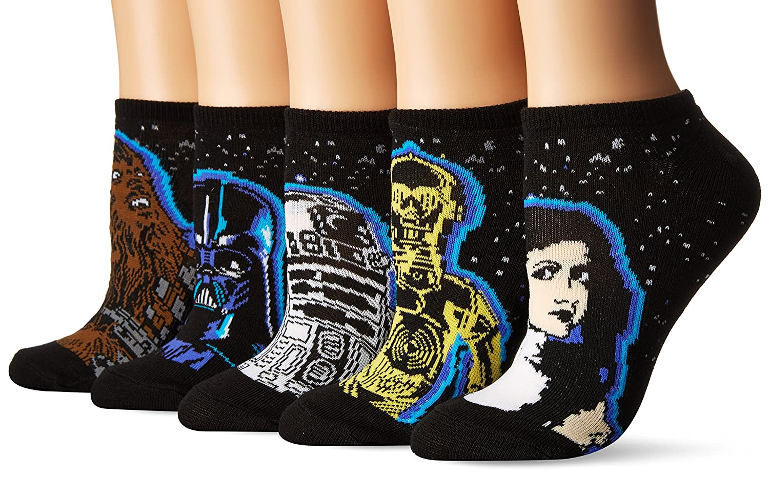 Star Wars 40th Anniversary 5 Pack No Show Socks Black 9-11 680904