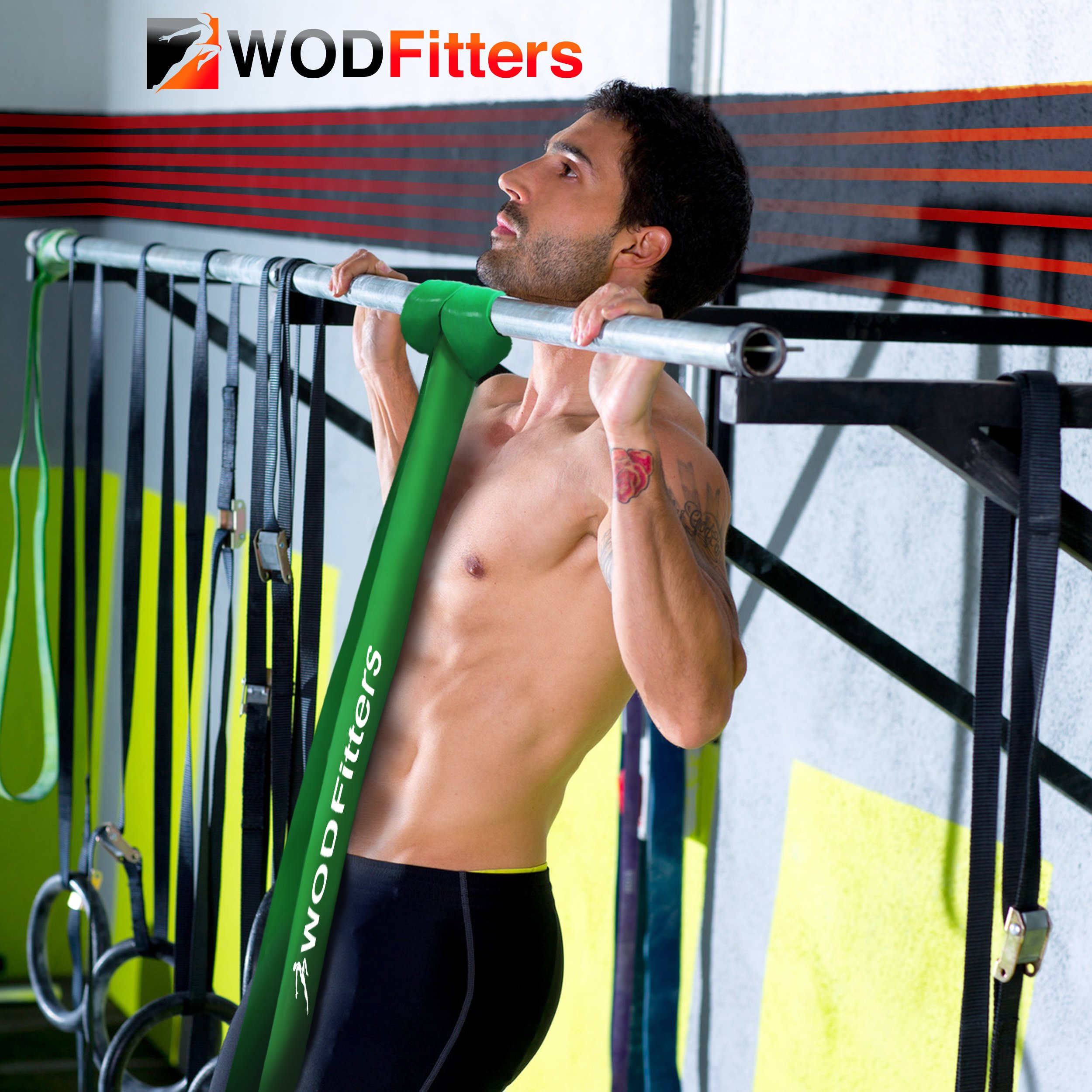 WODFitters Stretch Resistance Pull Up Assist Band with eGuide, 5 Blue - 65 to 175 Pounds (2.5'' 4.5mm) by WODFitters (Image #8)