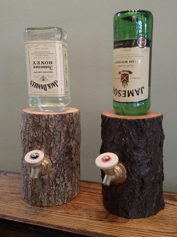Amazon.com: Liquor Dispenser, The Real Wood Log Liquor Dispenser ...