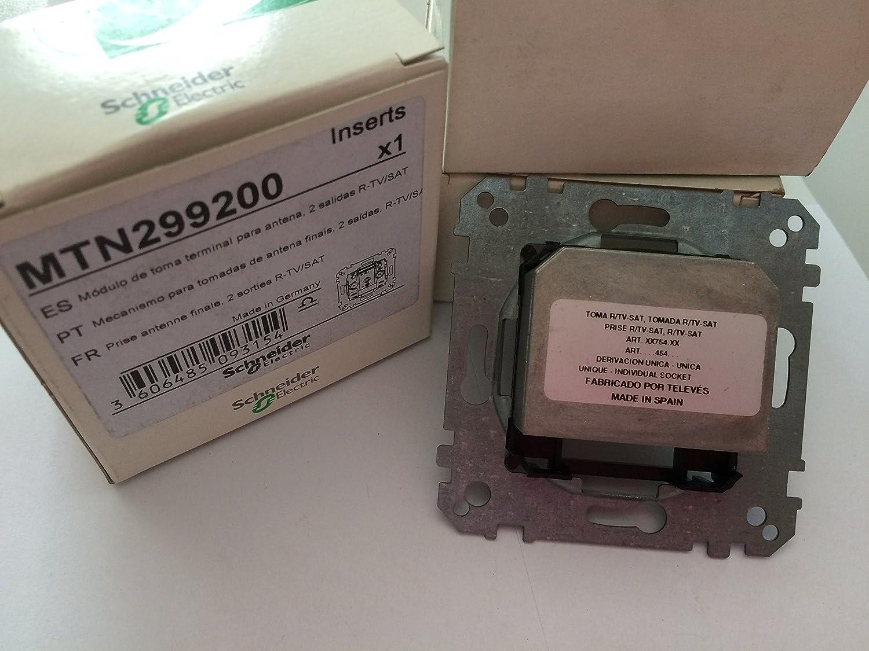 Schneider Electric MTN299200 Toma R-TV/SAT Derivación Única ...
