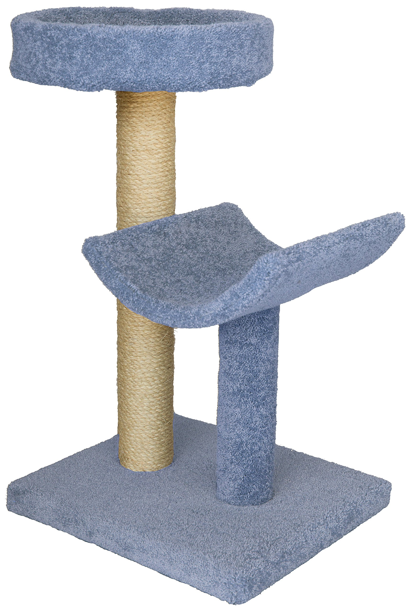 Molly and Friends MF-23-blue Two-Tier Scratching Post Furniture, Blue