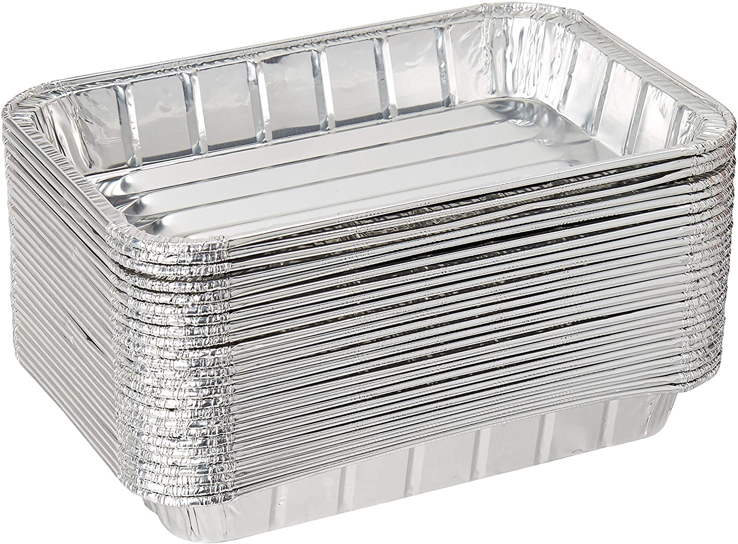 Pack of 25 Disposable Aluminum Foil Toaster Oven Pans - Mini Broiler Pans | BPA Free | Perfect for Small Cakes or Personal Quiche | Standard Size - 8 1/2