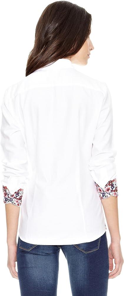 TORO Camisa Lisa Flores Fist Blanco L: Amazon.es: Ropa y accesorios