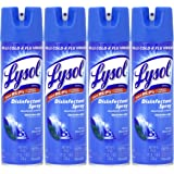 Lysol Disinfectant Spray, Spring Waterfall, 19 oz(Pack of 4)