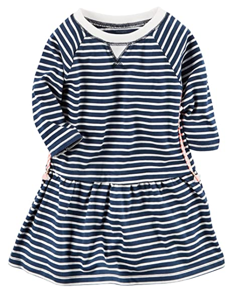 3e5049115 Image Unavailable. Image not available for. Color: Carter's Baby Girls' Striped  Jersey Dress ...