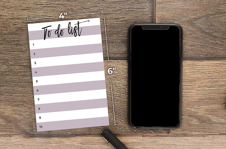 10x15 cm di Daily Ritmo Piccole cose da fare Sticky Notes colore grigio foderato pennello Carattere Elenco delle cose da fare Blocco note 50 pagine