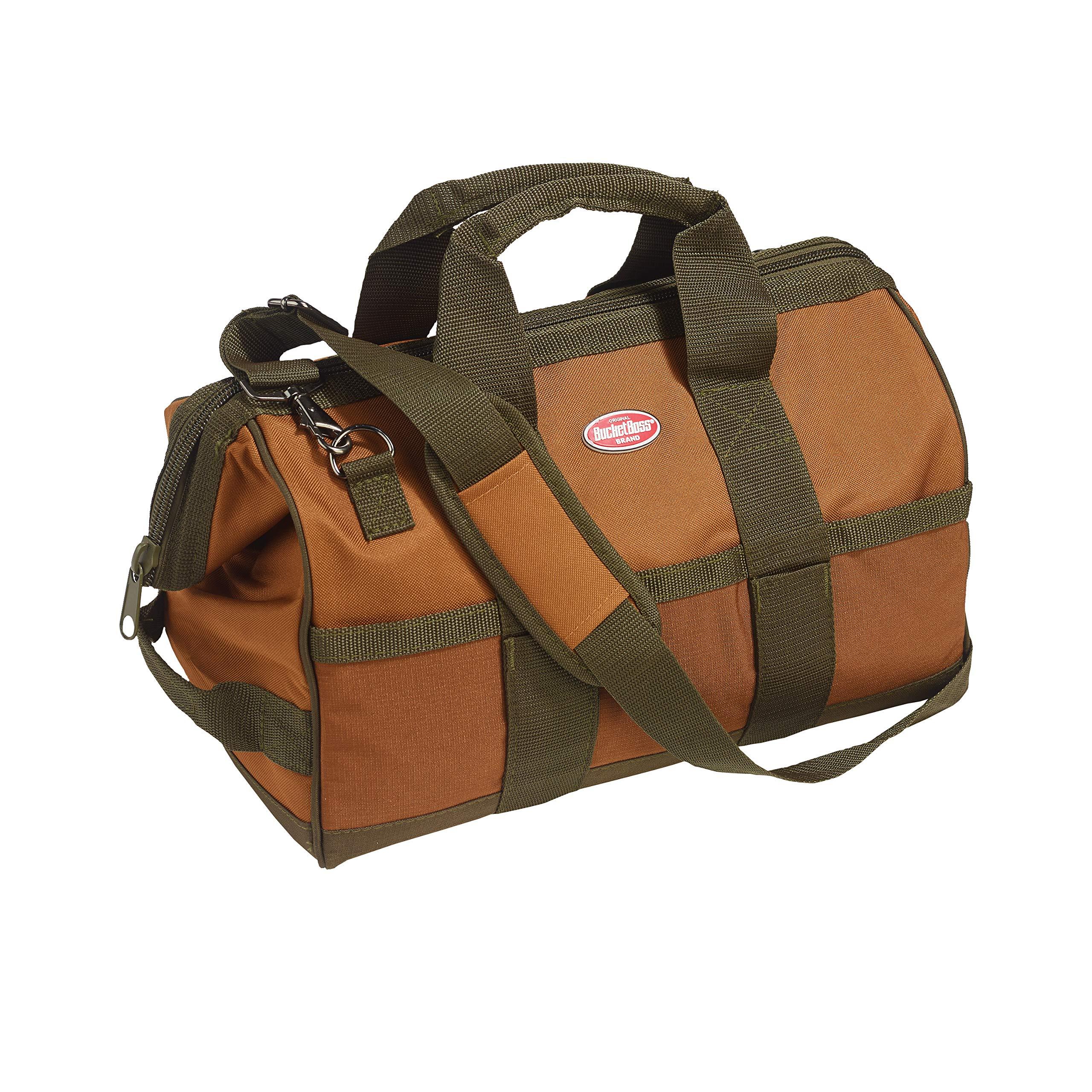 Bucket Boss Gatemouth 16 Tool Bag in Brown, 60016, 15 liters(Brown)