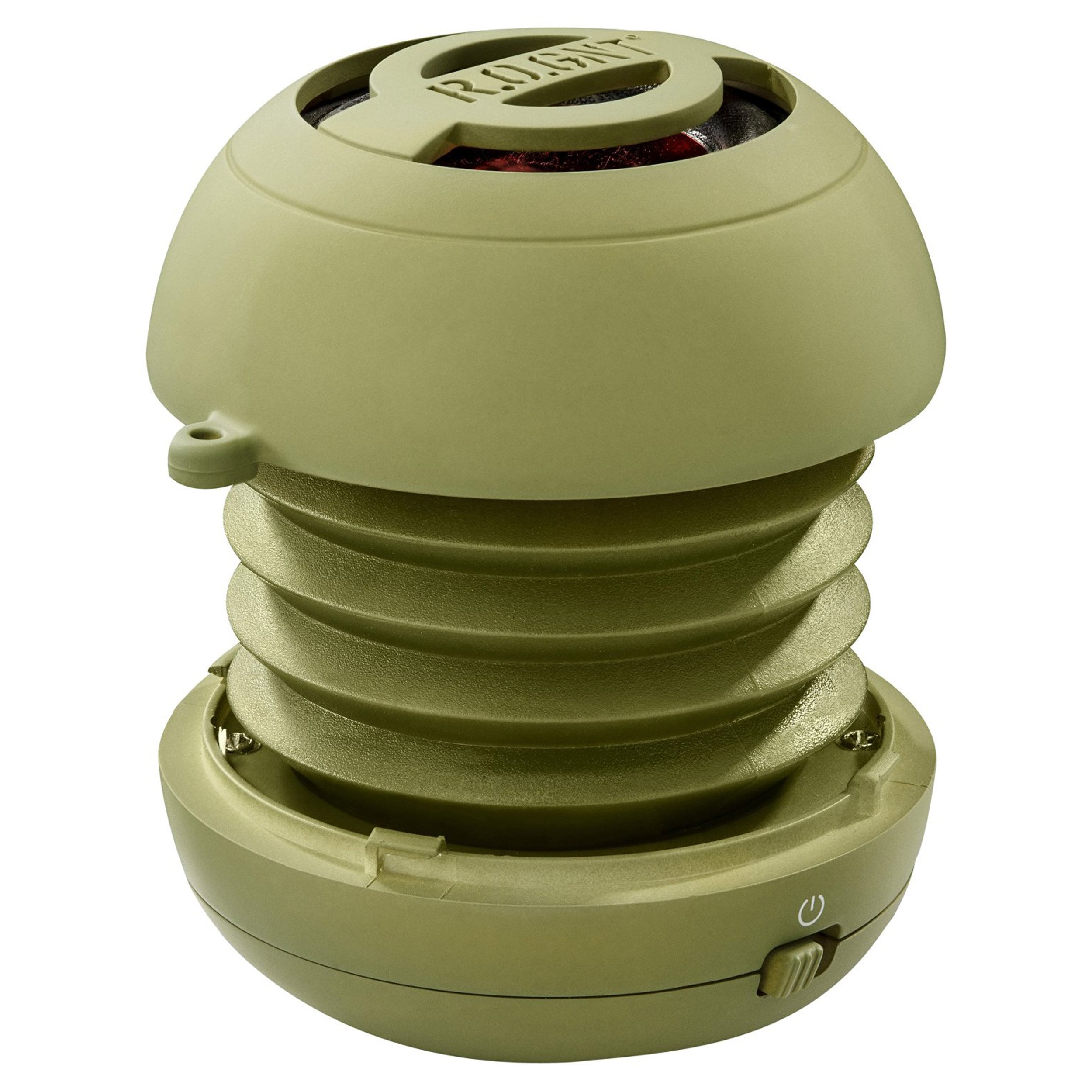 R.O.GNT Portable In-Line Wired MP3 Capsule Speaker for mobile Devices, Smartphone, iPhone and Tablet, Laptop, Notebook (Wired, Capsule) (Olive)