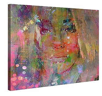 Premium Leinwanddruck 100x75 Cm U2013 Thoughtful Girl U2013 XXL Kunstdruck Auf  Leinwand Auf 2 Cm Holz