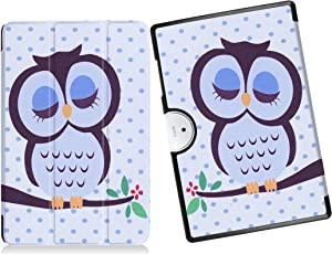 "Smart Case for Acer Iconia One 10 B3-A40 / A3-A40, YSTAR Slim Thin Folio Protective Standing Cover Case for 10.1"" Acer Iconia One 10 B3-A40 / A3-A40 Android 6.0 Tablet (Owl)"