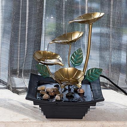 Amazon.com: Diensday Indoor Tabletop Fountain Decor Home Light ...