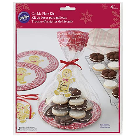 Wilton Christmas Cookie Gifting Plates, 4-Count