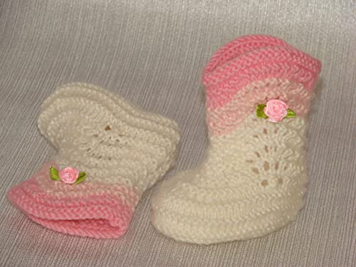 Handmade knitting baby slippers 1 pair