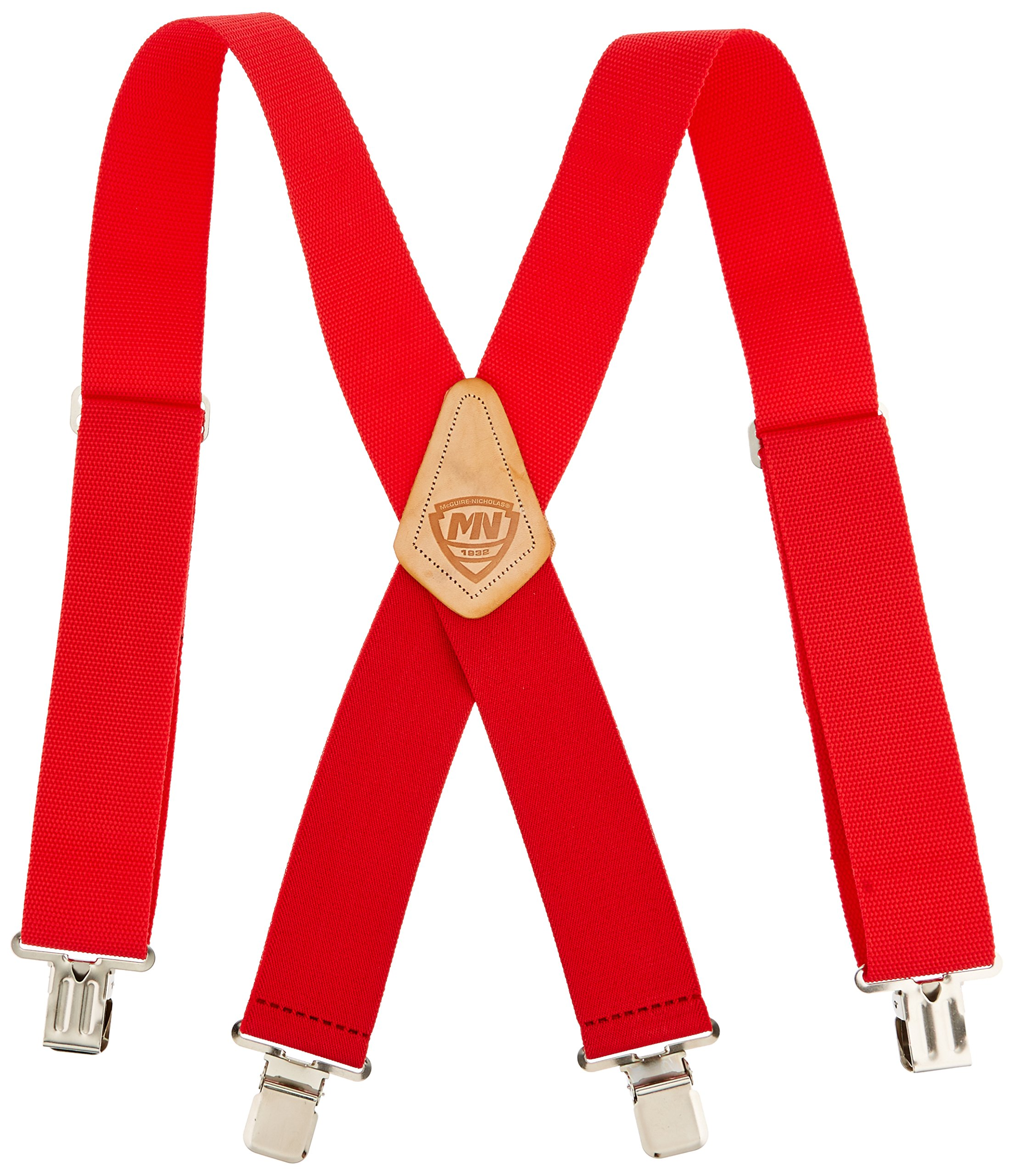 McGuire-Nicholas 110C 2-Inch Wide Red Suspenders