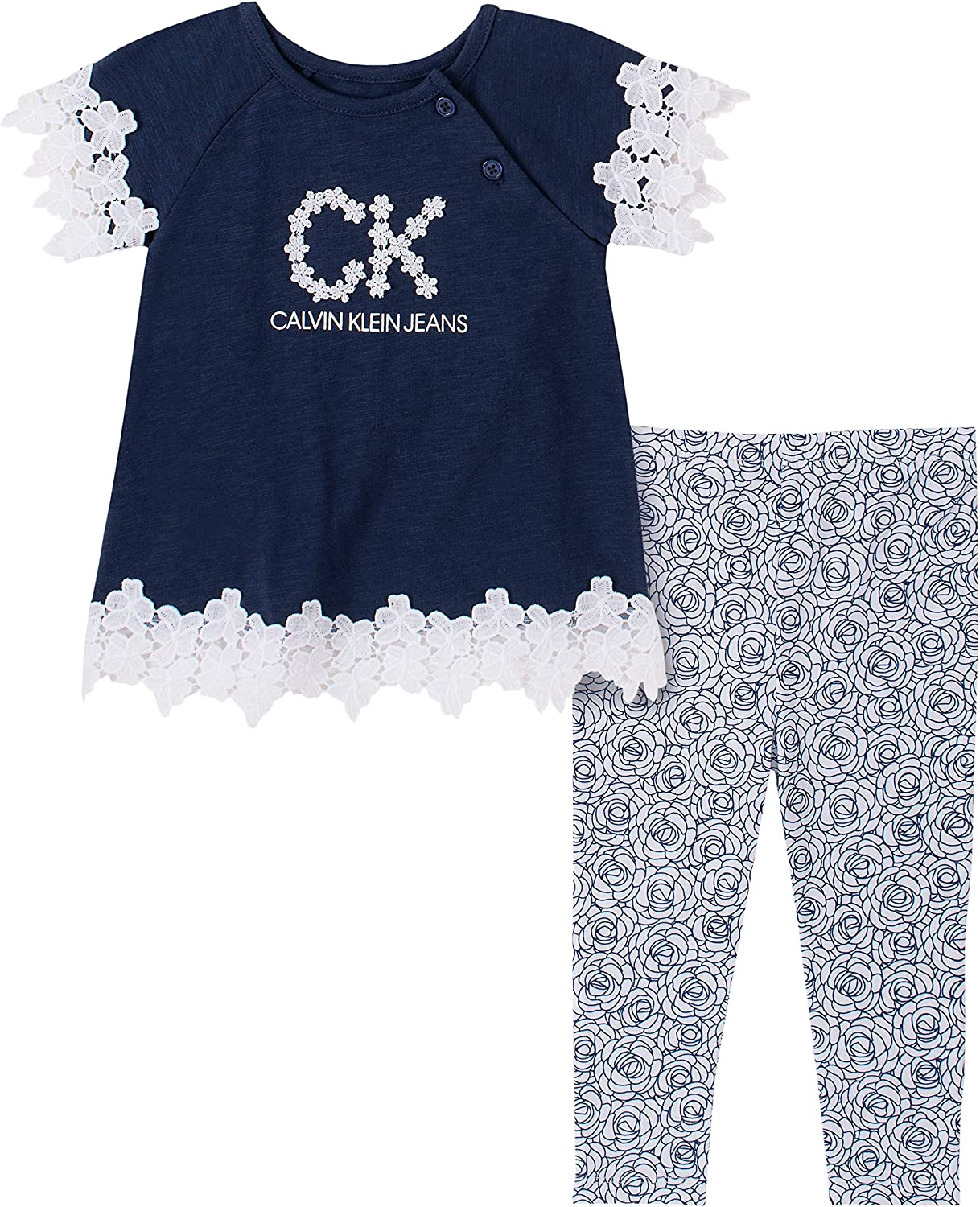 Calvin Klein Baby Girls' 2 Pieces Legging Set