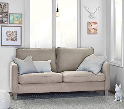 Amazon Com Used Sofas Couches Living Room Furniture >> Elle Decor Porter Sofa Beige