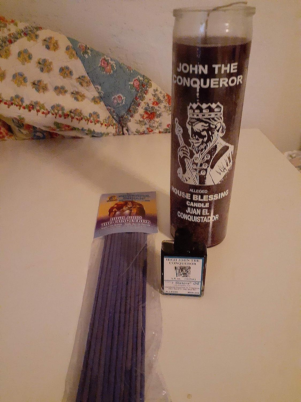 High John The Conqueror 7 Day Unscented Purple Candle in Glass (Juan El Conquistador)