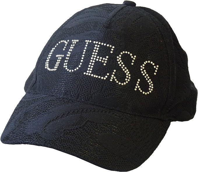 GUESS - Gorra de béisbol - para Mujer Negro Negro Talla única ...