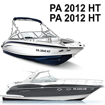 3h x 18w boat registration numbers sold per set