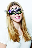 HMS Women's Day Of The Dead Mask with Flower and Tulle Trim