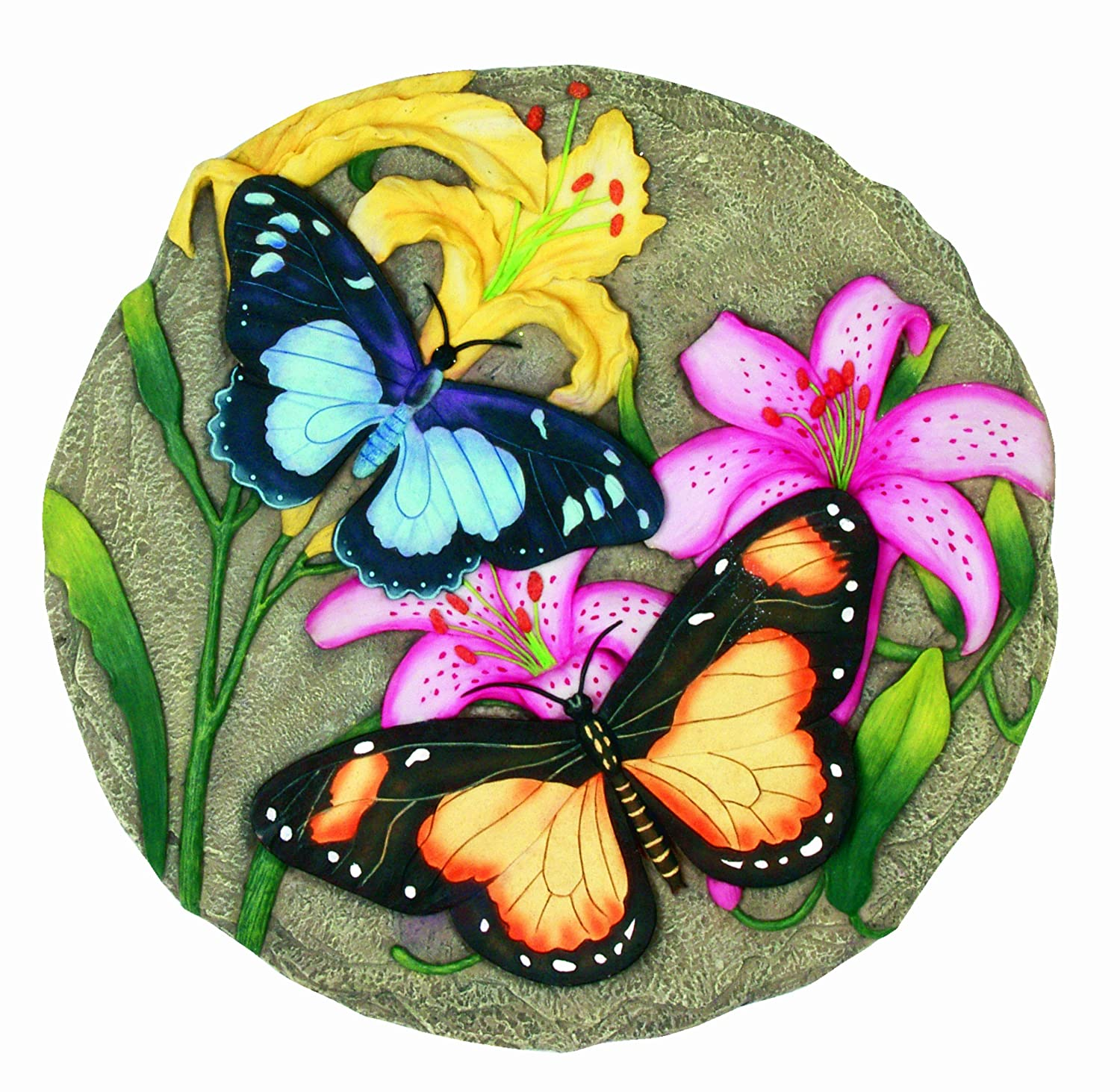 Spoontiques Butterfly with Flowers Stepping Stone 12984