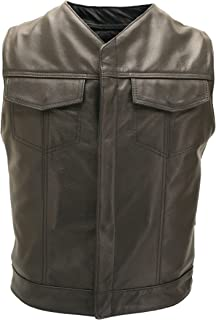 product image for Sons of The Anarchy V Neck Leather Vest - Made in USA