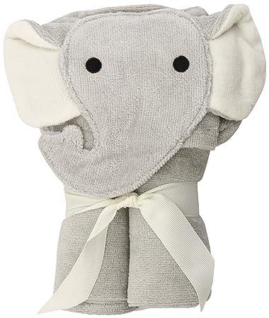 Amazon Com Elegant Baby Bath Time Gift Hooded Towel Wrap Gray