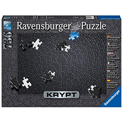Ravensburger Krypt Black 15260 736 Piece Puzzle for Adults, Every Piece is Unique, Softclick Technology Means Pieces Fit Together Perfectly: Toys & Games