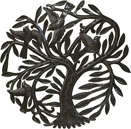 Le Primitif Galleries Haitian Recycled Steel Oil Drum Outdoor Decor