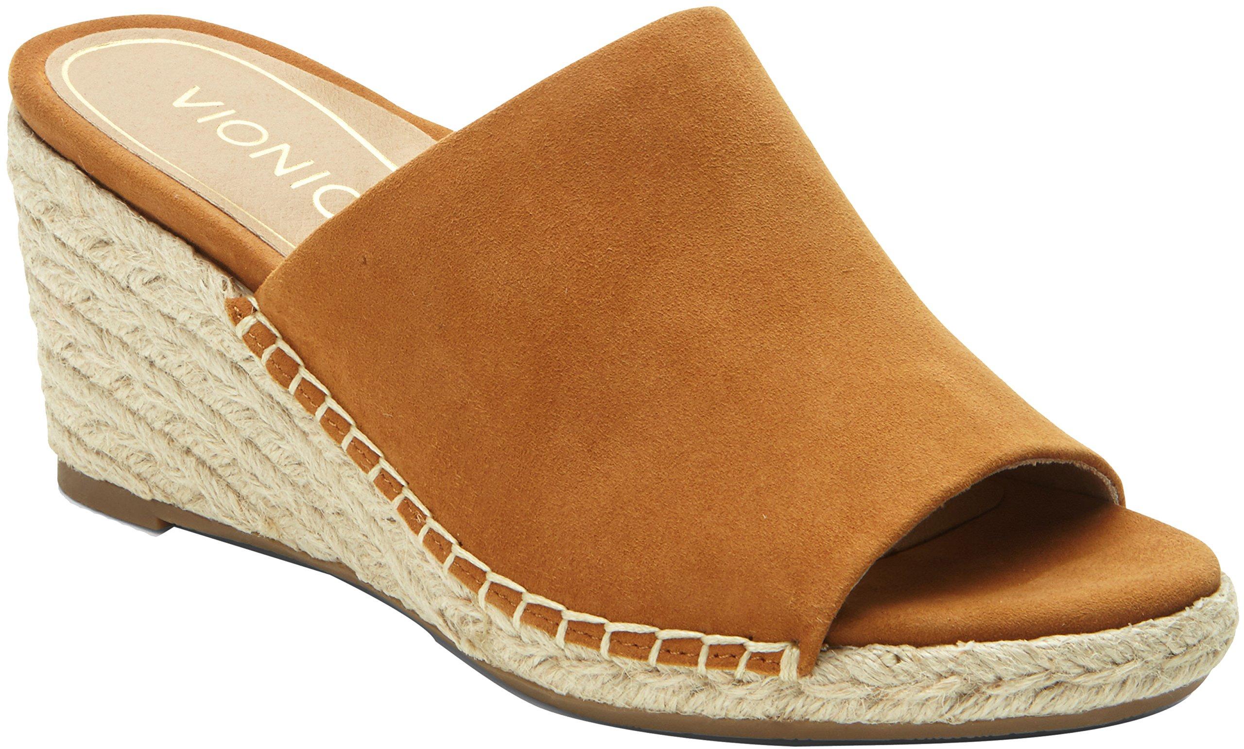 Vionic Tulum Kadyn - Womens Wedge Slip-On Sandal Caramel - 8 Wide